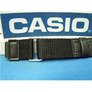Casio Watch Band AW-80V-1 Black NylonGrip Strap.  Fits most 18mm Sports Watches