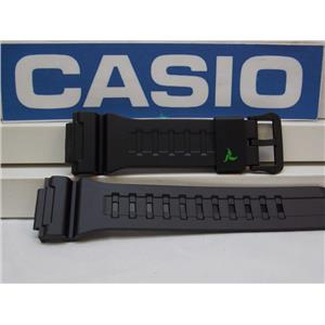 Casio Watch Band STL-S100. Black Rubber Strap for Tough Solar Lap Memory 120