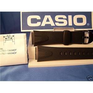 Casio watch band W-751 black Resin sport band