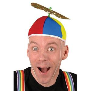 Multi Color Propeller Beanie Dork Clown Nerd Hat