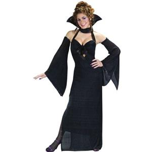 Dark Venus Sexy Adult Black Halter Gown Costume Dress S/M