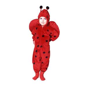 Deluxe Little Ladybug Toddler Pajama Child Costume 2-4
