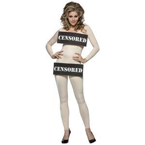 Censored Bar Women's Adult Nude Bodysuit Sexy Costume