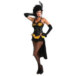 Gold Burlesque Showgirl Adult Costume