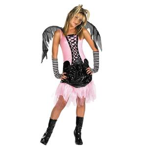 Gothic Graveyard Fairy Child Costume Pink and Black PreTeen LG