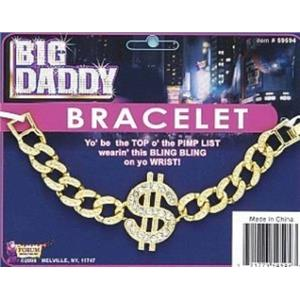 Big Daddy $ Dollar Sign Bracelet Costume Accessory