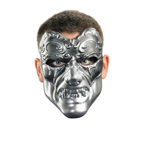 Faux Chrome Evil Masquerade Venetian Mask
