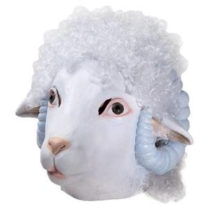 Deluxe Sheep Latex Adult Mask with Hair