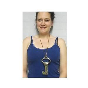 "7.5"" Jumbo Key Necklace Costume Accessory"