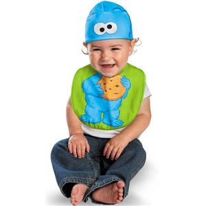 Disguise Drool Over Me Sesame Street Cookie Monster Infant Bib and Hat Set