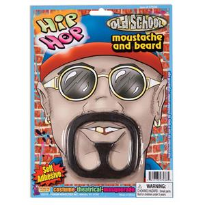 Rap Star Self Adhesive Moustache and Beard Disguise