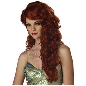 Long Wavy Auburn Mermaid Wig