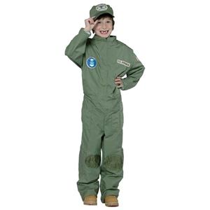US Air Force Pilot Uniform Military Soldier Child Costume Small 4-6