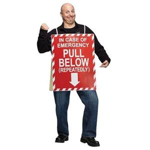 In Case of Emergency Funny Humorous Adult Costume