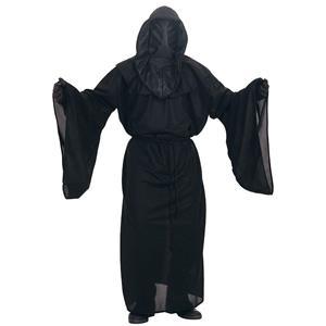Rigor Mortis Hooded Black Robe Adult Costume