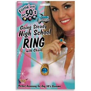 Going Steady 50's High School Class Ring Chain Poodle Costume Accessory