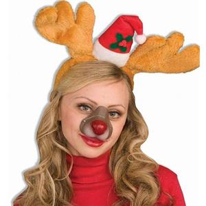 Rudolph the Reindeer Nose on Elastic Band Christmas Costume Accessory