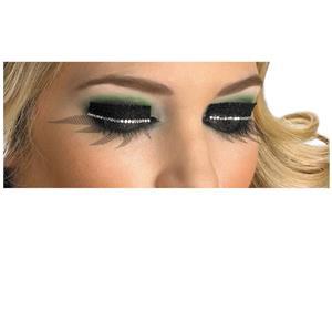Fishnet and Rhinestone Mesh Glitter Sparkle Fake False Eyelashes