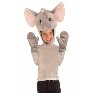 Elephant Hood and Gloves Child Costume Kit