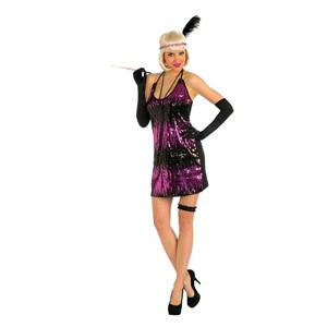 Sassy in Sequins Adult Flapper Costume X-Small/Small