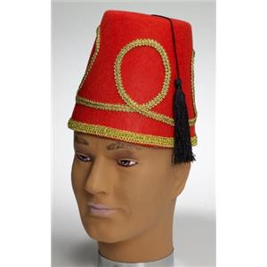 Red Fez Adult Costume Hat
