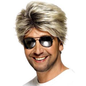80's Street Wig Smiffy's Blonde/Brown