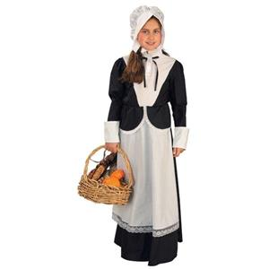 Pilgrim Girl Thanksgiving Colonial Child Costume Medium 8-10