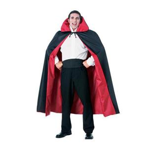 "Rubie's 65"" Full Length Black and Red Reversible Taffeta Halloween Cape Vampire"