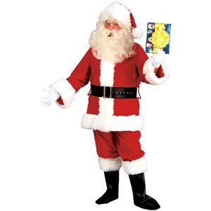 Men's Deluxe Fleece Santa Claus Suit Costume Size X-Large
