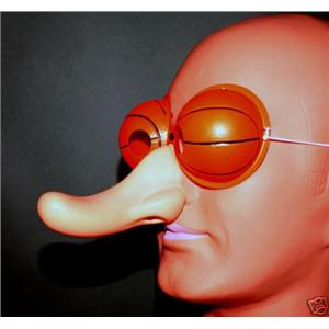 Basketball Eye Long Nose Mask B-Ball Hoopin Party Favor Sports Eyes