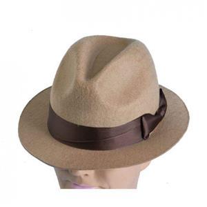 Tan Fedora Hat Indiana Kruger Gangster Brown Hat