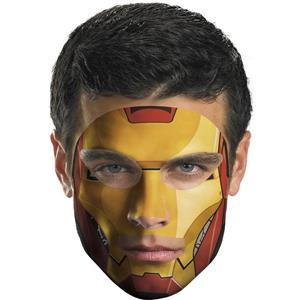 Iron Man Face Temporary Tattoo Makeup Easier Than Mask