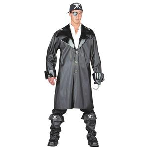 Yo Ho the Pirate Skull Cross Bones Trench Coat Duster Costume