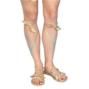 Golden Roman Greek Sandals for Ladies