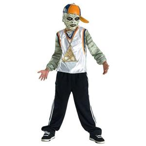 Wrapper Mummy Rap Star Time Child Costume Tween 14-16