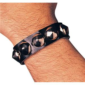 Single Studded Biker Goth Wristband Costume Accessory