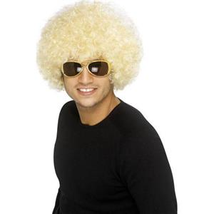 Blonde Funky Afro Wig