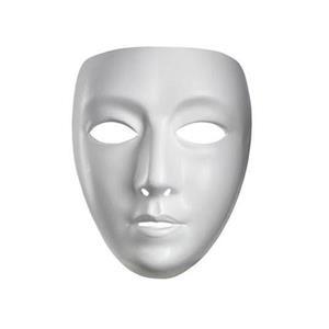 Blank White Female Adult Mask