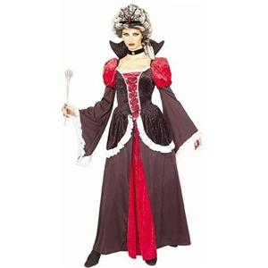 Women's Red and Black Wicked Gothic Queen Deluxe Adult Costume