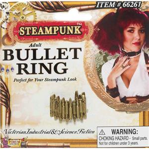 Steampunk Plastic Bullet Ring