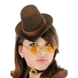 Female Steampunk Accessory Mini Hat Glasses and Choker Kit