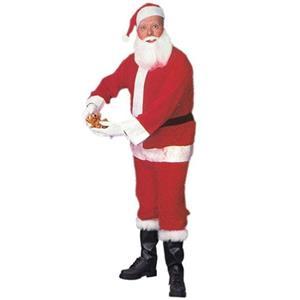 Economy Santa Claus Suit Standard Adult Costume