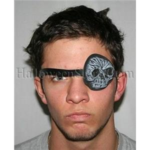 Foam Skull Eye Patch Pirate Costume Accessory