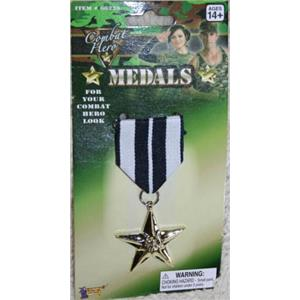 Combat Hero Single Military Medal Costume Accessory