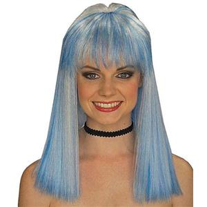 Frostina Blue and White Wig with Bangs