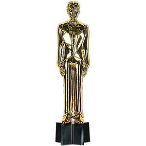 Gold Plastic Awards Night Male Statuette 9'' Prop Statue