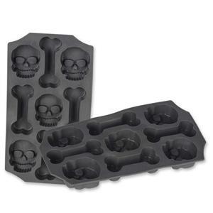 Skull and Bones Ice Cube Mold Tray Novelty Halloween Party Drinkware