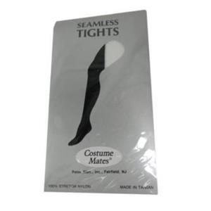 Two-Tone Seamless Tights Black & White Adult Accessory Size Standard