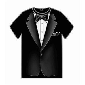 Black Tuxedo Adult T-Shirt One Size