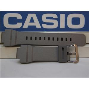 Casio Watch Band G-7800 B-8V Silver/Gray Resin G-Shock Watchband / Strap
